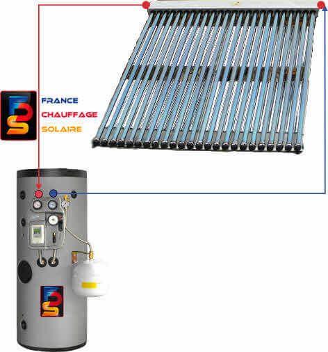 Kit chauffe eau solaire 200 litres capteur tubes sous vide for Chauffe eau solaire sous vide