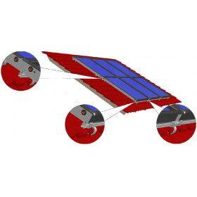 Support toiture surimposition tuiles plates et ondulées pour panneaux autovidangeables SunHp