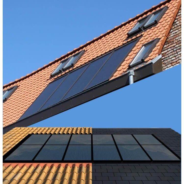 panneaux solaires encatrés en toiture