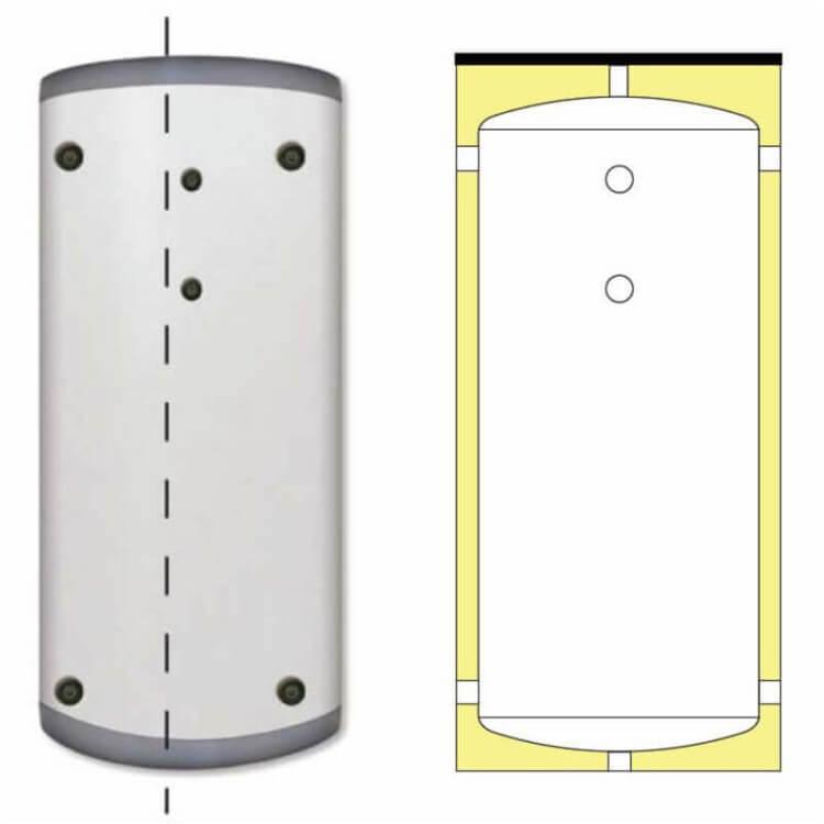 Bouteille de mélange eau glacée et chauffage 100 à 1000 litres
