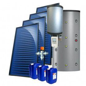 kit 7 kW autovidangeable chauffage solaire combiné, ballon multifonction 500 Litres