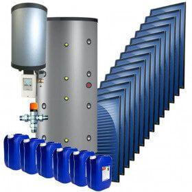 Kit chauffage solaire combiné 35 m² 25 kWc SUN-2.0 ballon 1500 litres