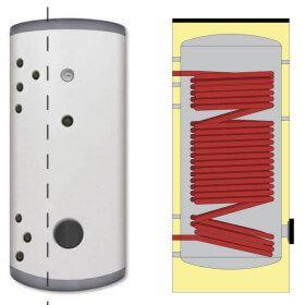 Ballon Inox 200 à 1000 litres pour pompe à chaleur avec serpentin surdimensionné
