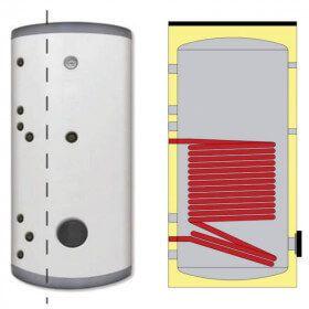 Ballon ECS Inox 316L 150 litres simple échangeur solaire ou chaudière