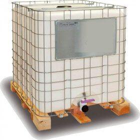 Container 1000 litres de fluide caloporteur antigel -23 °C +240°C