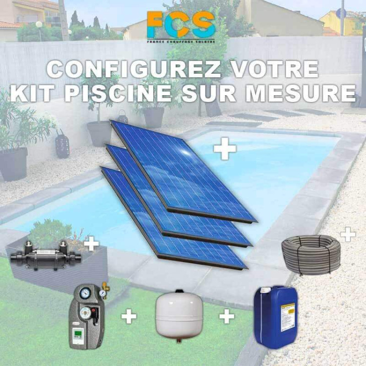Kit solaire thermique pour chauffage de piscine