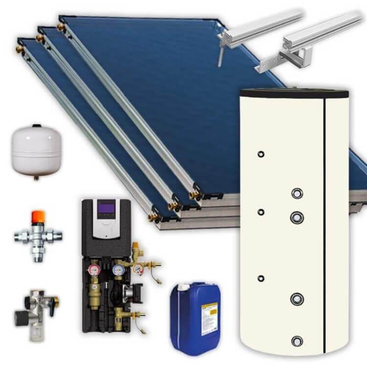 kit chauffe eau solaire 400 litres FCS 3 panneaux solaires