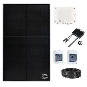 Kit solaire P3 SunPower 3 à 9 kWc Onduleur central SolarEdge