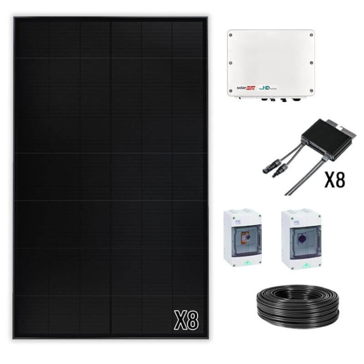 Kit solaire P3 SunPower 3 à 9 kWc Onduleur central SolarEdge