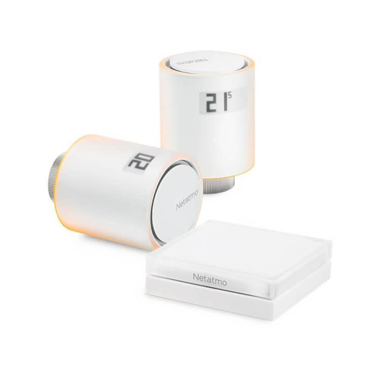 Starter Pack Netatmo - 2 têtes thermostatiques intelligentes pour radiateurs