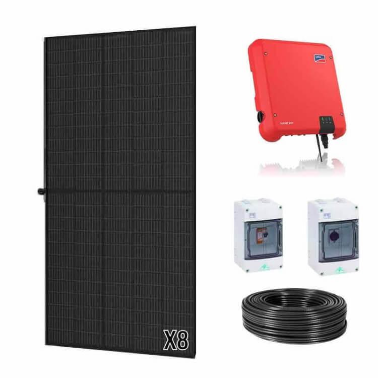 Kit panneau solaire Trina Solar onduleur central de 3,2 à 8,4 kWc