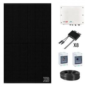Kit panneau solaire Qcells onduleur centralisé de 3 à 9 kWc