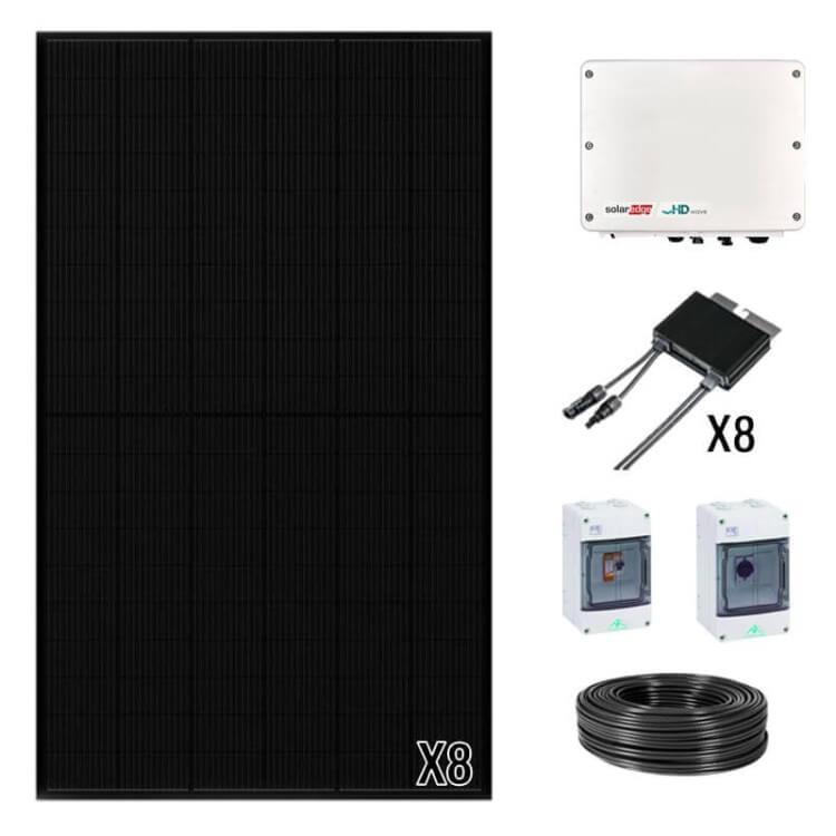 Kit panneau solaire onduleur centralisé de 3 à 9 kWc