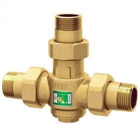 Vanne anti condensation 60°C pour installations à combustible solide