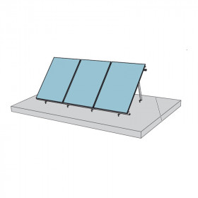 Fixations toiture terrasse 45° pour capteur solaire CS 2.0