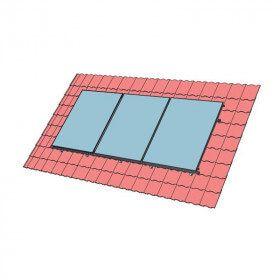 Fixation toiture surimposition pour panneaux solaires thermiques FCS CS 2.0