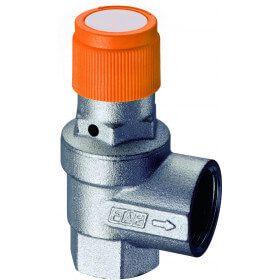 Soupape de sécurité, pression et température pour installations solaires.