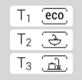 Mémoire des 3 températures les plus utilisées pour le chauffe-eau KOSPEL KDE5