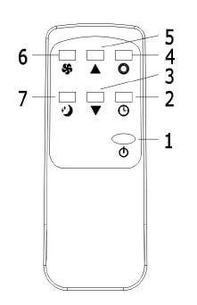 télécommande climatiseur mobile ARGO CRONO 2,6kW