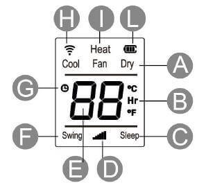 Affichage télécommande climatiseur mobile 3 kW ARGO IRO PLUS