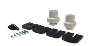 Silenbloc, raccords hydraulique de raccordment de la PAC Piscine