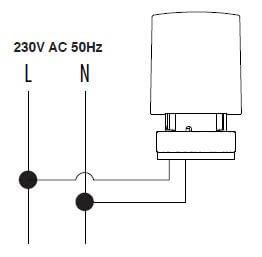 schéma de câblage de l'actionneur thermique