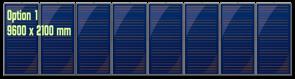 Groupe 8 panneaux solaires thermiques verticaux