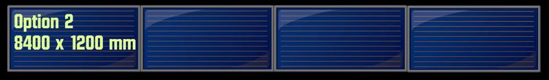 Groupe 4 panneaux solaires horizontaux en série
