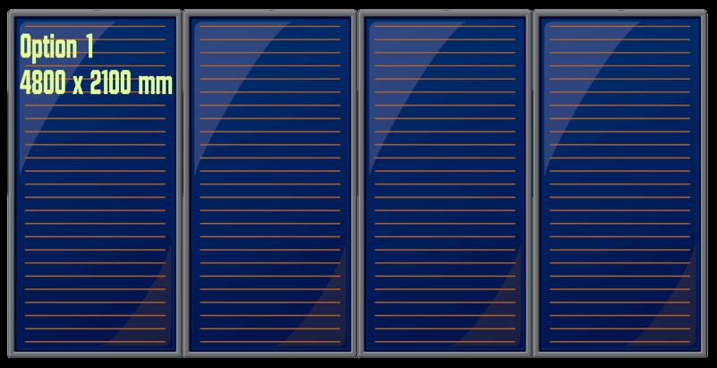 Groupe 4 panneaux solaires thermiques verticaux