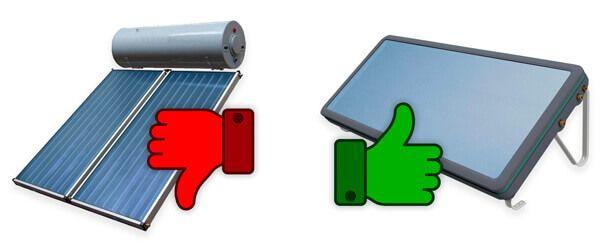 Comparatif entre le chauffe eau solaire thermosiphon et le chauffe eau solaire monobloc SUNPAD