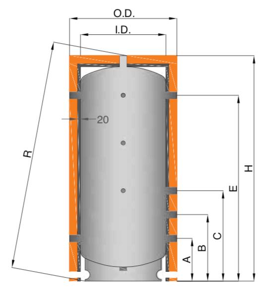Plan du ballon tampon inox 316L
