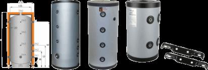 Bouteille de mélange et ballon tampon pour pompe a chaleur basse température