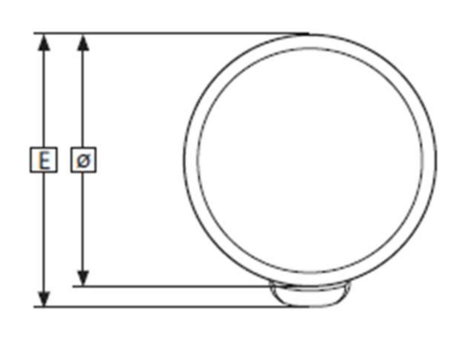 Dimensions du ballon electrique ECS 150 litres inox AISI 444 vue du dessus