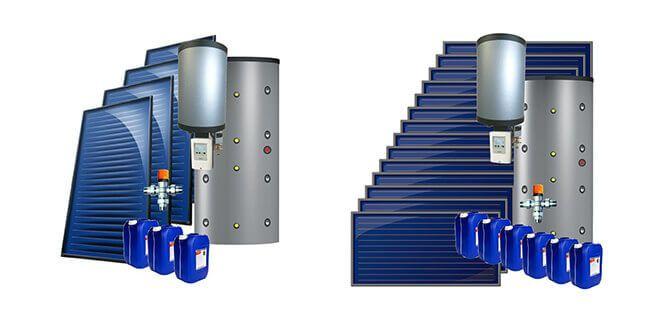Chauffage solaire combine en kit vertical ou horizontal