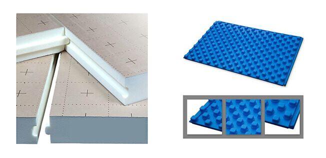 Plaques de sol isolantes à plots ou plates