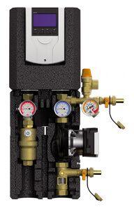 Module solaire 2 voies équipé d'un dégazeur, pompe de circulation, vanne de remplissage et de purge et régulateur solaire thermique