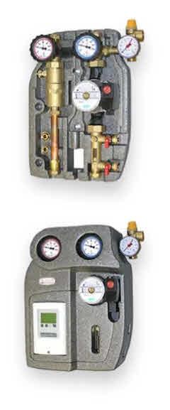 Goupe solaire 2 voies équipé d'un dégazeur, pompe de circulation, vanne de remplissage et de purge et régulateur solaire thermique