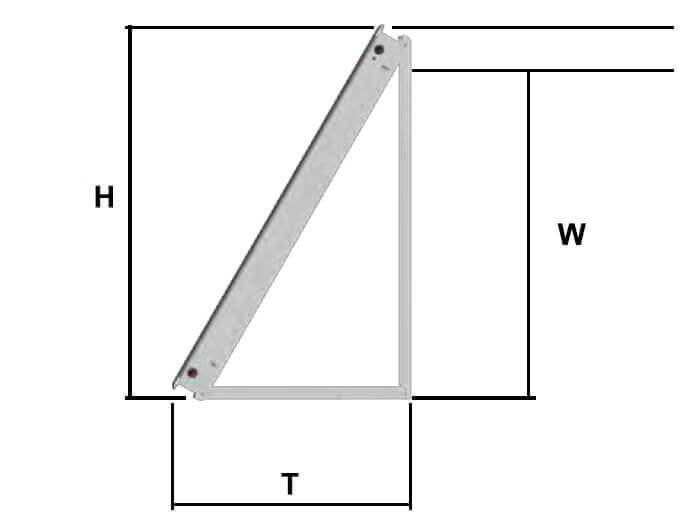 dimensions fixation murale panneaux solaires sunhp