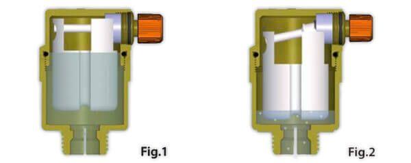 purgeur d'air avec sortie horizontale pour installation solaire